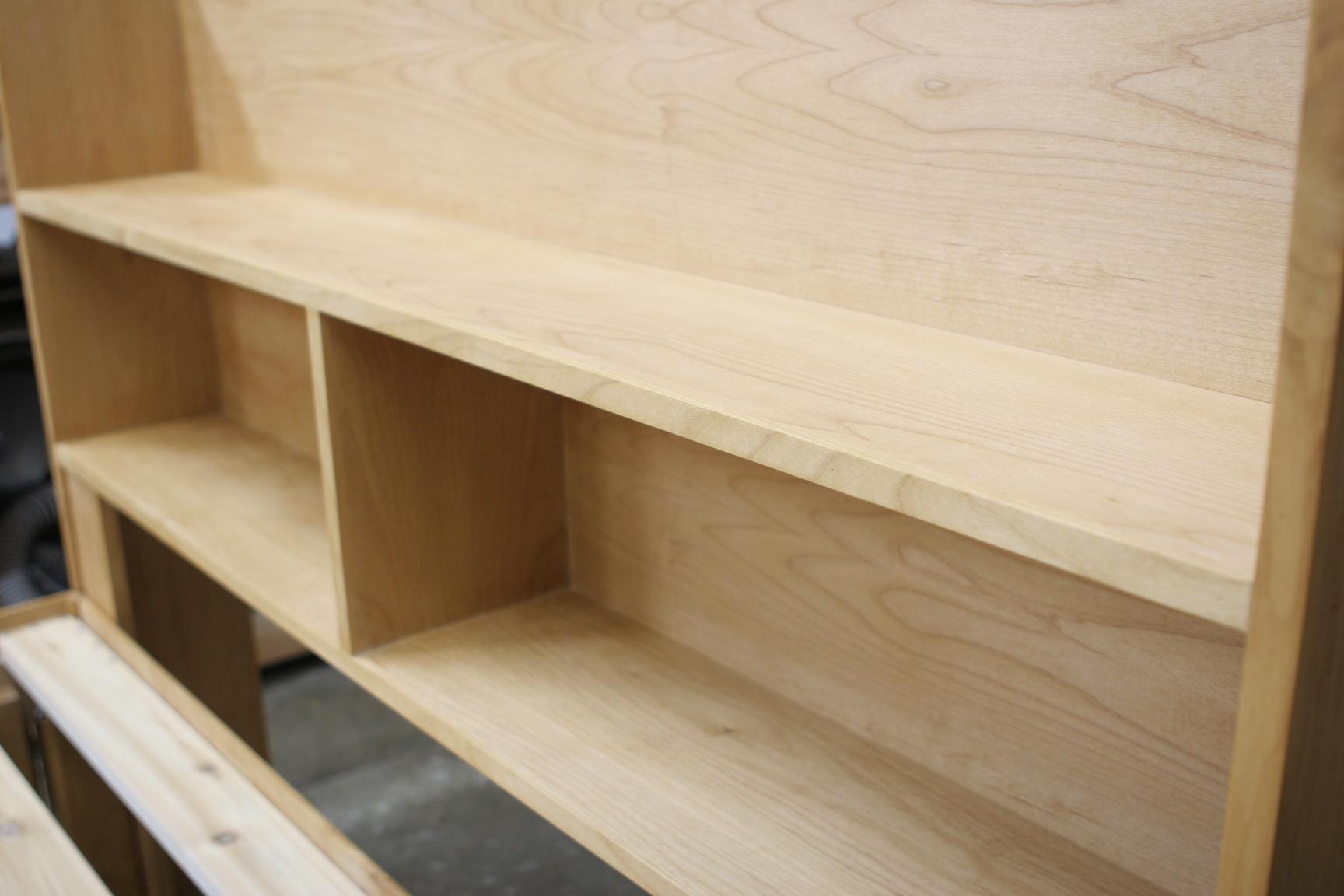 Alder storage headboard
