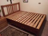 Ash with two drawers (with night stand spacer), headboard