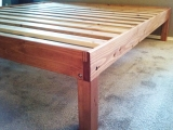 Fir king frame with tinted shellac
