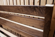 Walnut/Curly maple headboard