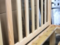 Fir vertical-slat headboard