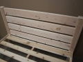 Fir horizontal-slat headboard