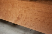 Maple with drawers and dark finish--birdseye closeup