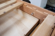 Maple with drawers and dark finish tie-down (1 of 5)