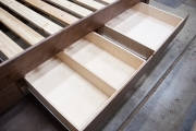 Walnut queen removable divider drawer and regular drawer